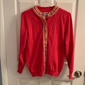 Pink Sweater Set With Ribbon Detail